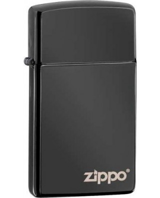 Zippo Logo Slim High Polish Black 26583