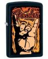 Zapaľovač Zippo s logom Fender.