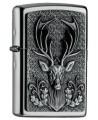 Zippo zapaľovač s motívom jeleňa v prírode. Zippo je kovový benzínový zapaľovač s doživotnou zárukou a viac ako 80 ročnou tradíciou. Tieto kvalitné zapaľovače sa vyrábajú výhradne v USA.