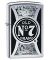Zippo zapaľovač s motívom americkej whiskey Jack Daniels. Zippo je kovový benzínový zapaľovač s doživotnou zárukou a viac ako 80 ročnou tradíciou. Tieto kvalitné zapaľovače sa vyrábajú výhradne v USA.