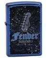 Zippo zapaľovač s motívom gitary Fender. Zippo je kovový benzínový zapaľovač s doživotnou zárukou a viac ako 80 ročnou tradíciou. Tieto kvalitné zapaľovače sa vyrábajú výhradne v USA.