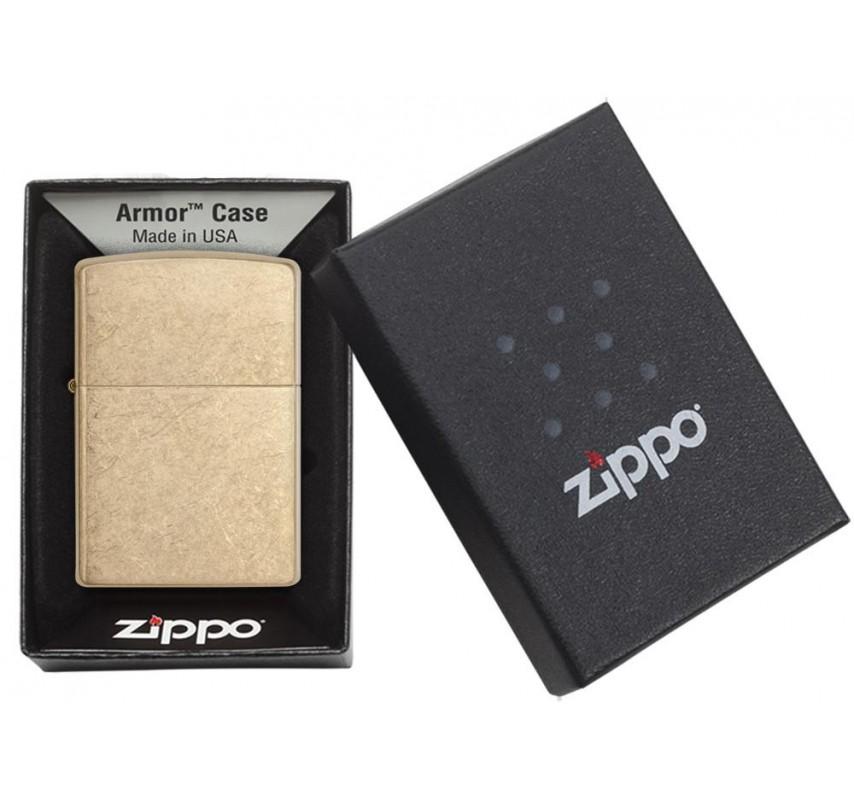 Zippo Armor Tumbled Brass 24180