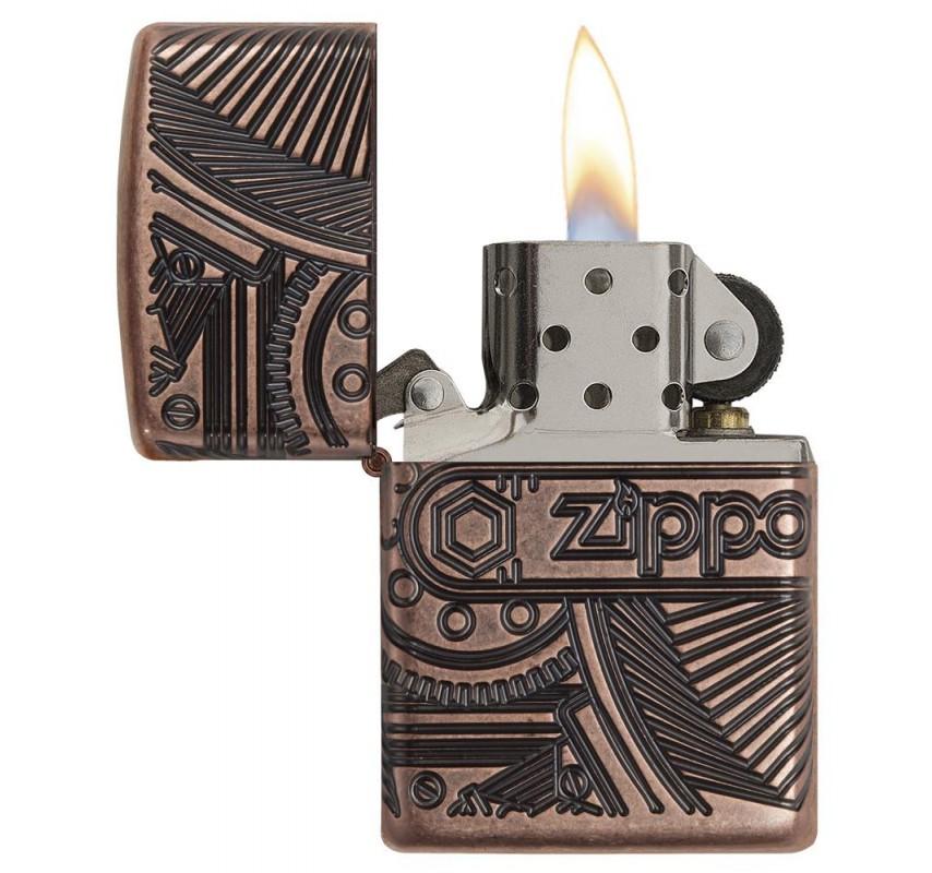 Zippo Antique Armor Gears