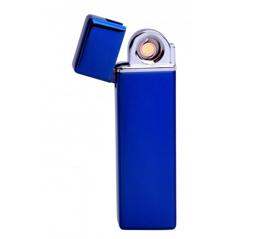 Kovový USB zapaľovač - Modrá