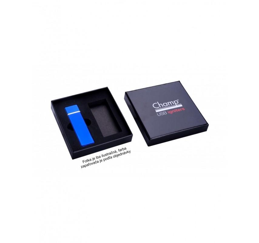 Kovový USB zapaľovač - Čierna