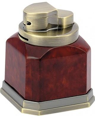 Stolový zapaľovač Cube 4x plameň - hnedá