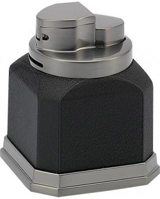 Stolový zapaľovač Cube 4x plameň- čierna