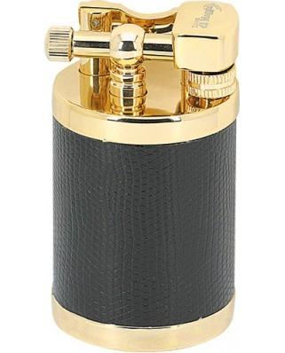 Retro stolový zapaľovač Barrel - zlatá / čierna