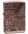 Podobne ako Zippo Steampunk, aj tento zapaľovač je unikátny svojím 360° MultiCut gravírovaním. Obal zapaľovača je Armor a vzhľad je starožitná mosadz. Zberateľský kúsok. Zippo je kovový benzínový zapaľovač s doživotnou zárukou a viac ako 80 ročnou tradíciou. Tieto kvalitné zapaľovače sa vyrábajú výhradne v USA.