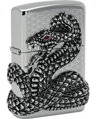 Zippo Snake Coil Silver 28154