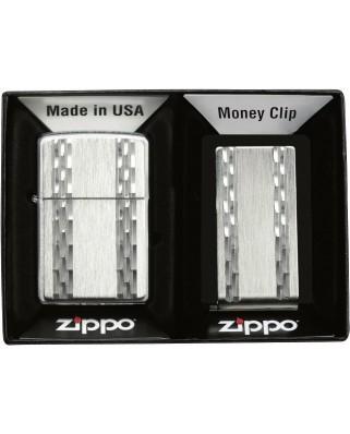 Zippo zapaľovač + spona No. 30025