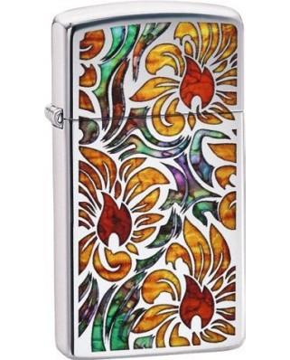 Zippo Slim Fusion Floral 22051