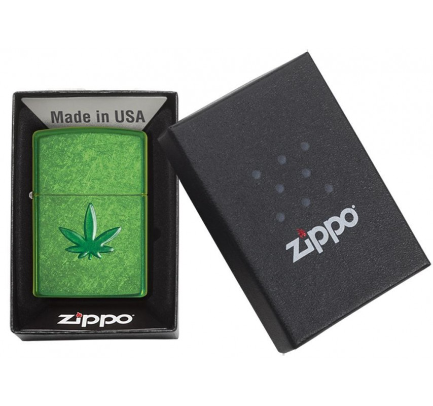 Fajkový Zippo Leaf