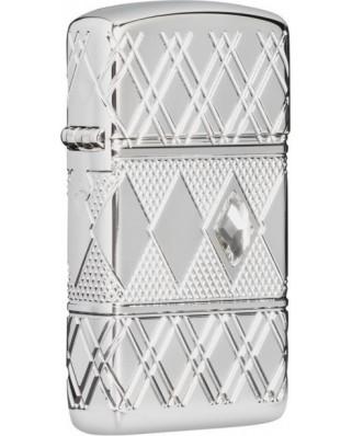 Zippo Slim Armor Swarovski Diamond Pattern 22068