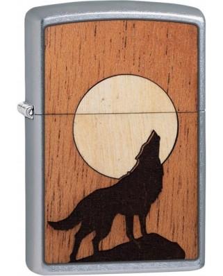 Zippo Woodchuck Howling Wolf 25526