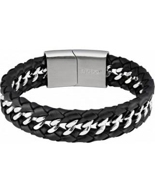 Zippo pletený kožený náramok 22cm 45062