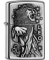 Originálny Zippo zapaľovač s motívom zverokruhu, lev. Zippo je kovový benzínový zapaľovač s doživotnou zárukou a viac ako 80 ročnou tradíciou. Tieto kvalitné zapaľovače sa vyrábajú výhradne v USA.