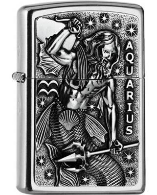 Zippo Aquarius Zodiac 25556