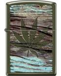 Zippo Leaf on Wood 26897