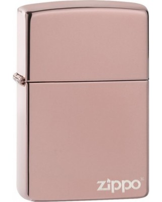 Zippo High Polish Rose Gold Logo 26908