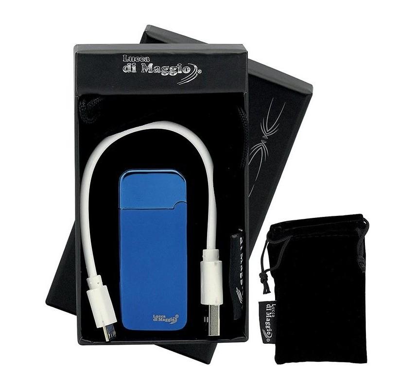 USB zapaľovač Mini - Modrá