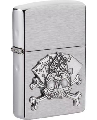 Zippo Card Skull Emblem 21937
