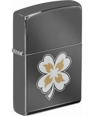 Zippo Clover with Flames 25582