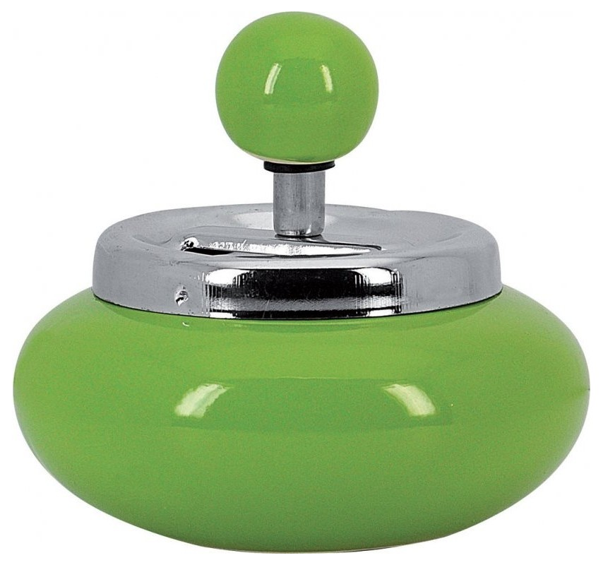 Keramický rotačný popolník Zelená 12713