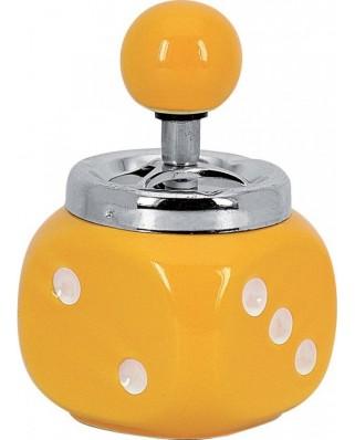 Rotačný popolník Hracia kocka Žltá 12717