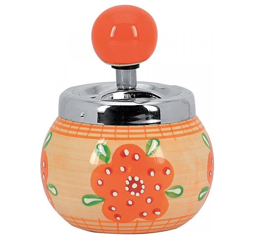 Keramický rotačný popolník Oranžová 12724