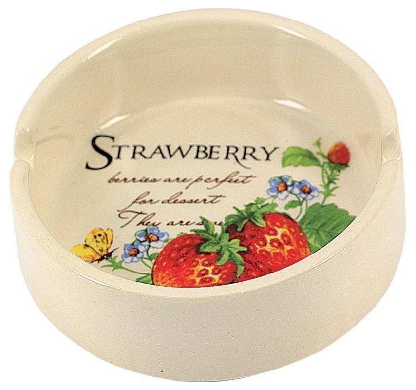 Keramický popolník Strawberry 12756