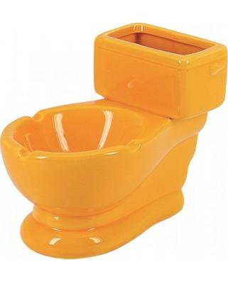 Keramický popolník Záchod Žltá 12759