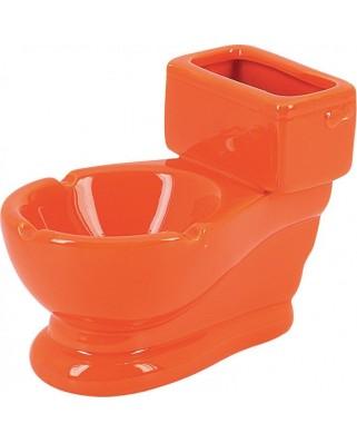 Keramický popolník Záchod Oranžová 12760
