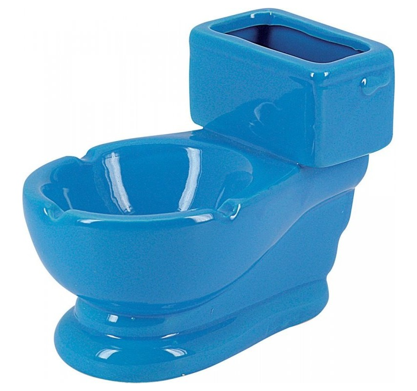 Keramický popolník Záchod Modrá 12761