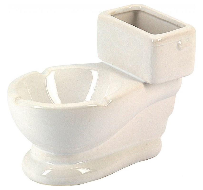 Keramický popolník Záchod Biela 12764