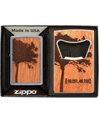 Zippo Woodchuck + otvárak na fľaše