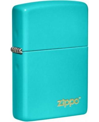 Zippo Flat Turquoise Logo 26952