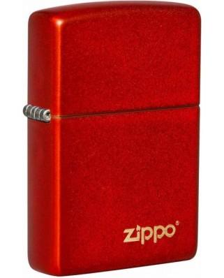 Zippo Metallic Red Logo 26954